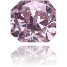 Natural Purple Diamond Square 0.09 ct Polished