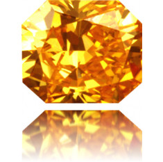 Natural Orange Diamond Square 0.33 ct Polished