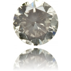Natural Gray Diamond Round 0.15 ct Polished