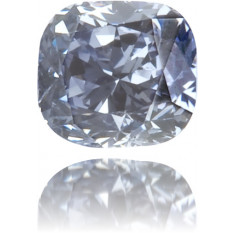 Natural Blue Diamond Cushion 0.11 ct Polished