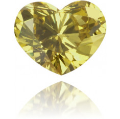 Natural Green Diamond Heart Shape 0.14 ct Polished