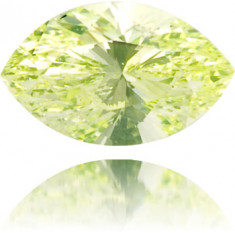 Natural Green Diamond Marquise 0.12 ct Polished