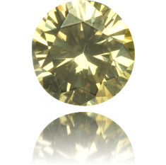 Natural Green Diamond Round 0.13 ct Polished