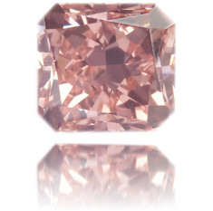 Natural Pink Diamond Square 0.35 ct Polished