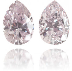 Natural Pink Diamond Pear Shape 0.37 ct Set