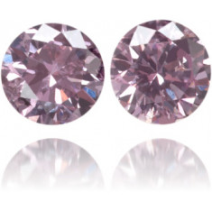 Natural Pink Diamond Round 0.14 ct Set