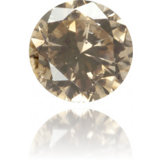 Natural Brown Diamond Round 0.10 ct Polished