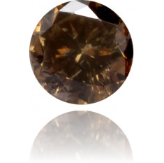 Natural Brown Diamond Round 0.09 ct Polished