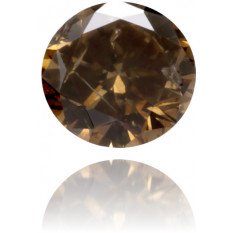 Natural Brown Diamond Round 0.08 ct Polished