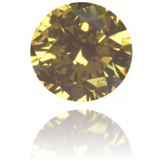Natural Green Diamond Round 0.14 ct Polished