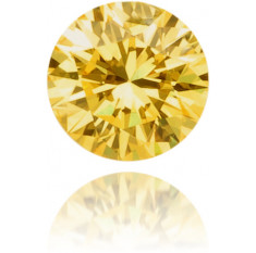 Natural Yellow Diamond Round 0.08 ct Polished