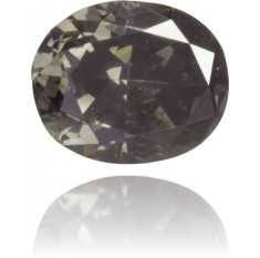 Natural Gray Diamond Oval 0.35 ct Polished