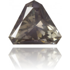 Natural Gray Diamond Triangle 0.40 ct Polished