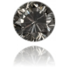 Natural Gray Diamond Round 0.10 ct Polished