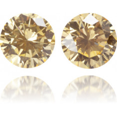 Natural Orange Diamond Round 0.31 ct Set