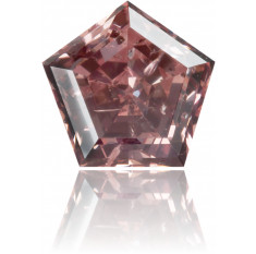 Natural Pink Diamond Pentagon 1.05 ct Polished