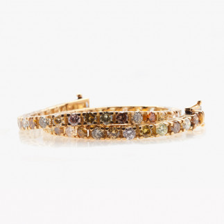 Rainbow Diamond Prong-Set Bracelet