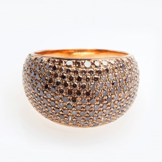 Chocolate Diamonds Ring, Pave-set