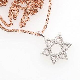 White Diamond Star of David
