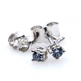 Vivid Blue Diamond Earrings