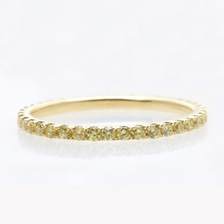 Yellow Diamonds Eternity Band