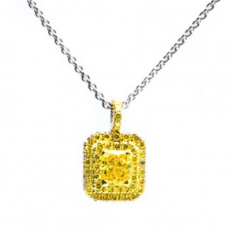 Square Yellow Necklace