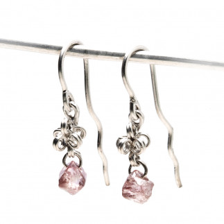 Rough Pink Diamond Earrings