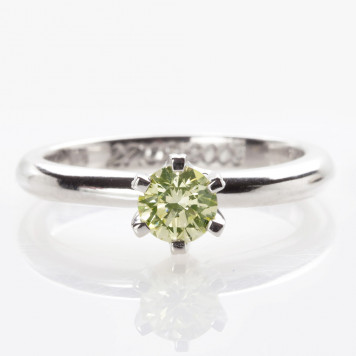 Lime diamond engagement ring