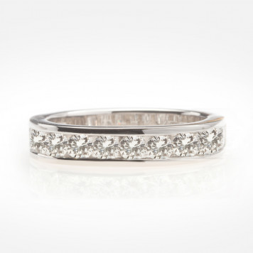 Half Eternity Band with White Diamonds