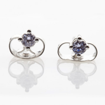 Greyish Blue Diamond Studs