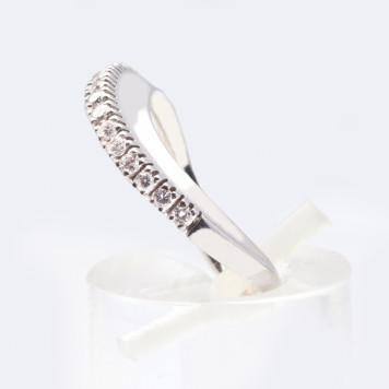 Twisted White Diamond Ring