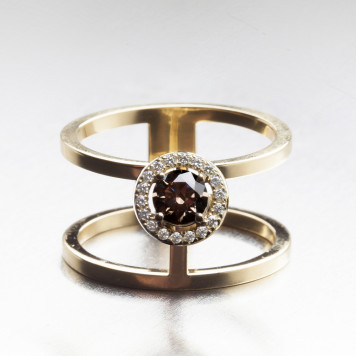 Contemporary Chocolate Diamond Ring
