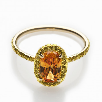 Vivid Orange Diamond Ring