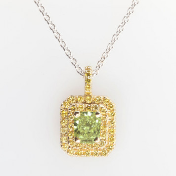 Lime Green Diamond Pendant
