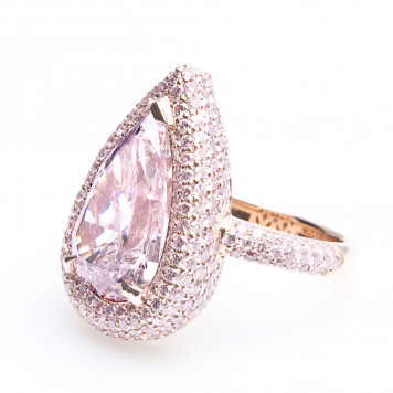 Pink Pear Shape Diamond Ring