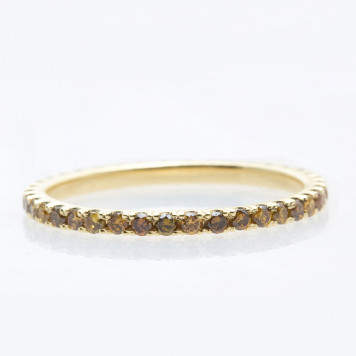 Cognac Diamond Eternity Ring