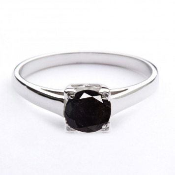 Black Diamond Brilliant Solitaire