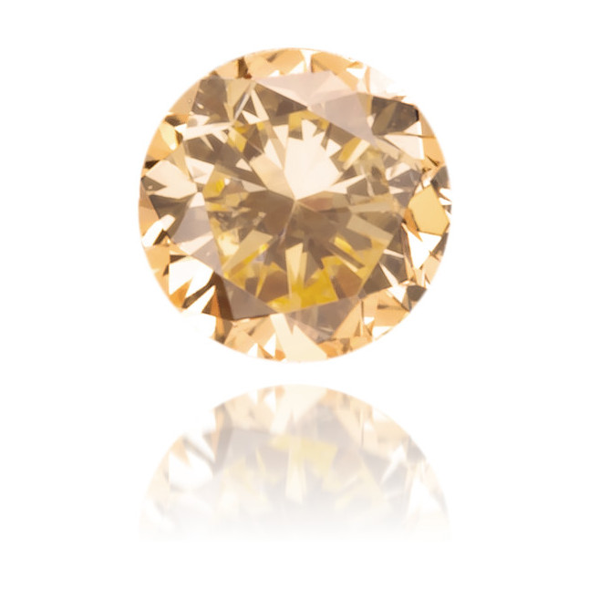 Natural Orange Diamond Round 0.09 ct Polished
