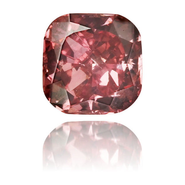 Natural Red Diamond Square 0.19 ct Polished
