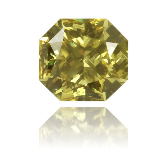 Natural Green Diamond Octagon 0.23 ct Polished