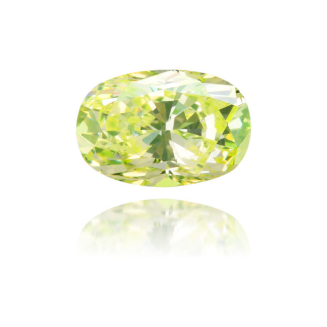 Natural Green Diamond Oval 0.24 ct Polished