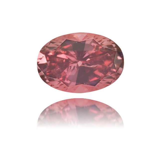 Natural Pink Diamond Oval 0.31 ct Polished