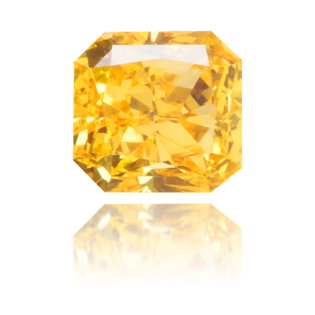 Natural Yellow Diamond Square 0.36 ct Polished
