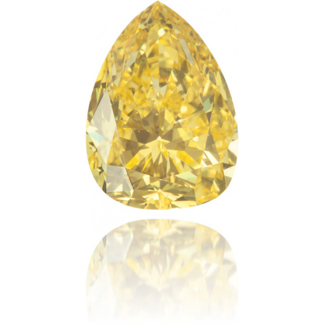 Natural Yellow Diamond Pear Shape 0.54 ct Polished