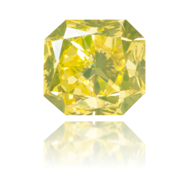 Natural Green Diamond Square 0.91 ct Polished