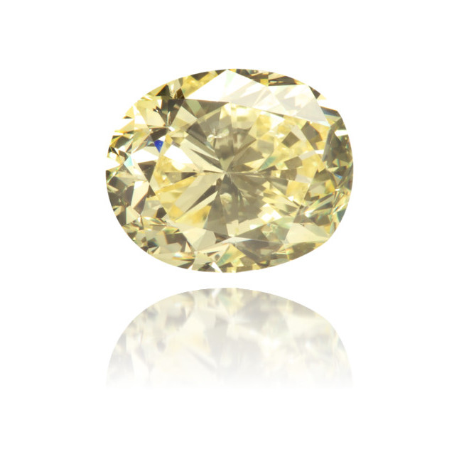 Natural Yellow Diamond Oval 0.93 ct Polished
