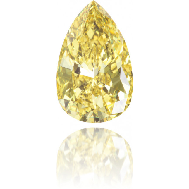 Natural Yellow Diamond Pear Shape 1.01 ct Polished