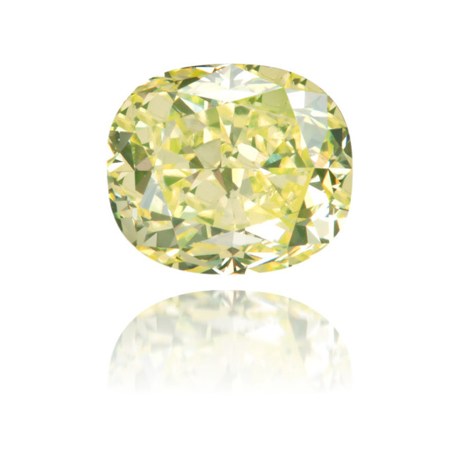 Natural Green Diamond Cushion 1.01 ct Polished