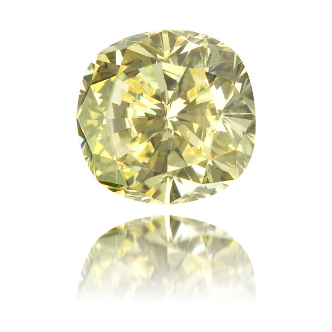 Natural Yellow Diamond Cushion 1.02 ct Polished