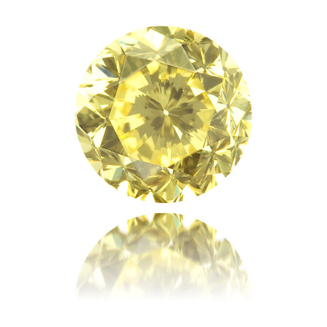 Natural Yellow Diamond Round 1.02 ct Polished